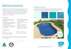 the bahama keyhole is the ultimate above ground pool flat bottom