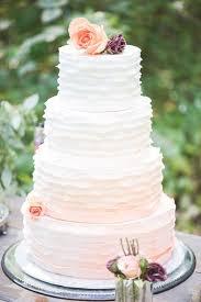 Peach Ombre Wedding Cake   26 oh so pretty ombre wedding cake ideas wedding cake spring