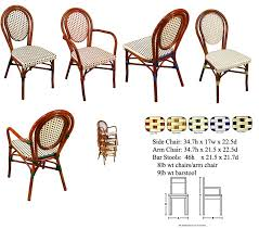 Wicker Bistro Table And Chairs French Cafe Bistro Rattan Chairs Parisian Chairs