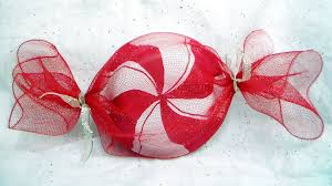 diy peppermint decorations and favor gift wrap