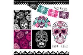 halloween skull transparent background sugar skull day of the dead clip art illustrations creative market