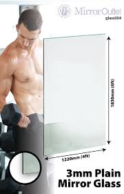 Large Mirror Large Mirror Glass Gym Or Dance Studio 3mm Thick Value 6ft X 4ft