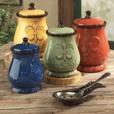 beige fleur de lis ceramic kitchen canisters set 3 by kitchen canister sets fleur de lis kitchen canister sets as food