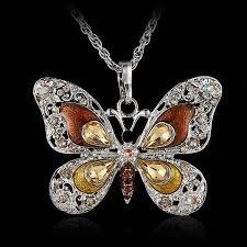 long butterfly necklace images Fancy rose gold butterfly bracelet animal hug jpg