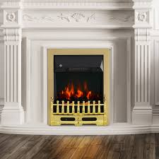 homcom electric fireplace led light complete fire place heating