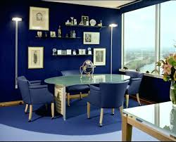 my office blue office with smoky blue paint color and floor to