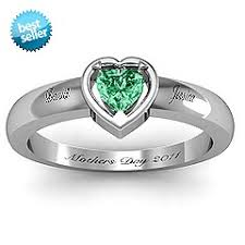 day rings personalized 107 best sterling silver mothers rings images on