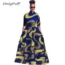 popular private custom women african print dresses buy cheap