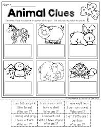 read simple sentence clues cut and paste to match the picture