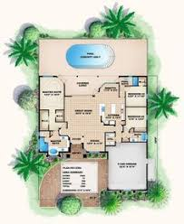 Mediterranean Floor Plan Narrow Floor Plan Stratford Place House Plan Home Pinterest