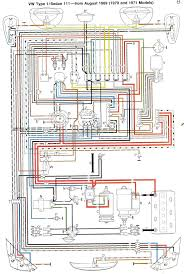 the entire wiring diagram for a 1970 vw beetle fits on one sheet