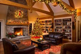 fireplace fireplace christmas decorations with roman shades and