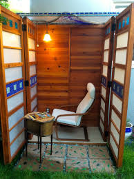 man builds diy micro writing shed for wife