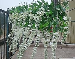 wisteria home decor 12pcs lot white artificial 100cm home decor wisteria silk flower