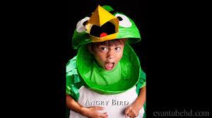 Bird Halloween Costume Homemade Angry Birds Boomerang Green Bird Halloween Costume