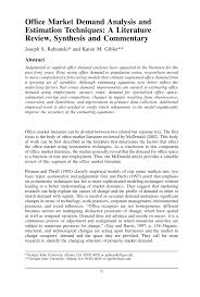 bureau d ude technique d inition office market demand analysis and pdf available