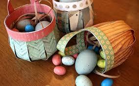 diy easter basket simple easter basket ideas for kids basket of thick paper diy is fun