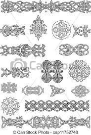 eps vector of celtic ornaments and patterns set for embellish and