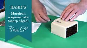 basics 1 marzipan a square cake sharp edged youtube