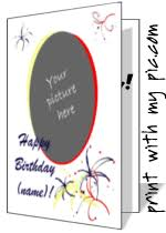 birthday card to print birthday cards to print add your own photo birthday card