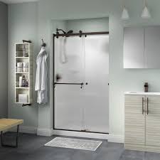 glass sliding shower doors delta portman 48 in x 71 in semi frameless contemporary sliding