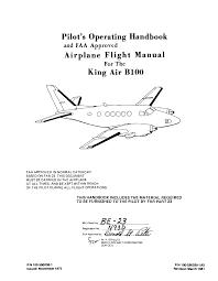king air b100 poh documents