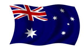 New South Wales Flag Southern Cross Kreuz Des Südens Als Wahrzeichen Down Unders