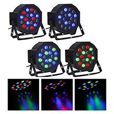 co z dmx controlled led par light 18x3w rgb dj par 64