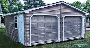 2 car prefab garages prefab two car garage horizon structures