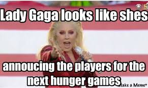 Hunger Games Meme - lady gaga super bowl hunger games meme lolworthy