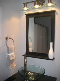 Bathroom Magnifying Mirror by Furniture Superb Brushed Nickel Vanity Light Fixtures With Glass