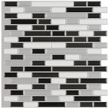 instant mosaic 12 in x 12 in peel and stick mosaic decorative
