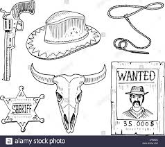 wild west rodeo show cowboy or indians with lasso hat and gun