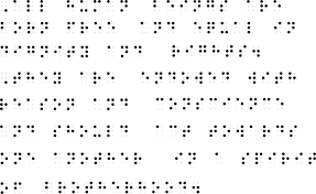 Writing System For The Blind Braille