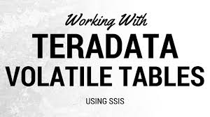 Teradata Create Table Working With Teradata Volatile Tables And Ado Net Connection