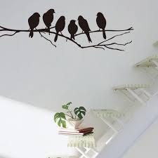 removable vinyl wall sticker mural decal art diy leopard spot mercurymallA birds wire wall stickers quote vinyl sticker sitting