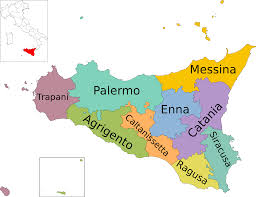 Map Of Capri Italy by List Of Communes Of Sicily Wikipedia