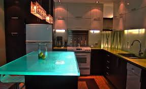 Glass Kitchen Countertops Kitchen Countertops Recycled Glass Gorgeous Glass Kitchen