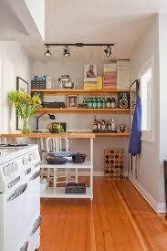 how to make a small kitchen island a kitchen island more storage and a home office workspace all