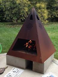 Metal Firepits Metal Outdoor Fireplace 275 Best Pits Images On Pinterest