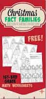 free christmas math pack christmas math fact families and math