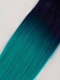 teal hair extensions dip dye remy extensions hair weave