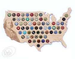 beer cap map usa unique christmas gift bottle cap holder