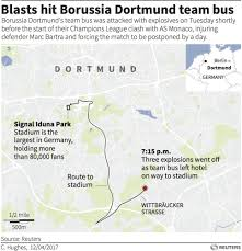 Dortmund Germany Map by German Police Probe Islamist Link To Bvb Bus Explosion Business