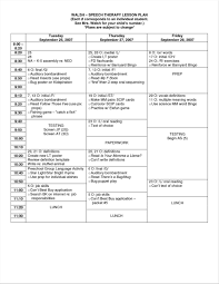 lesson plan template speech therapy lesson plan template for speech therapy 69 infantry