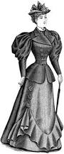 late 19th century dress with hat clipart etc