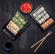 bonne cuisine rapide repas rapide de style japonais de panier repas de bento qui