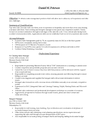 Best Resume For Management Position by Catering Resume Haadyaooverbayresort Com
