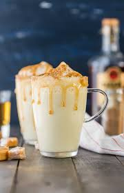 homemade salted caramel eggnog
