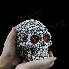 decoration creative terror props resin skull ornaments